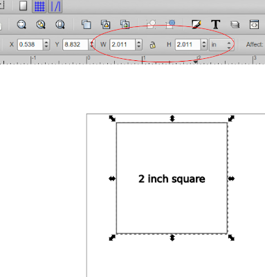 Dimensional anomalies in precision drawing in Inkscape