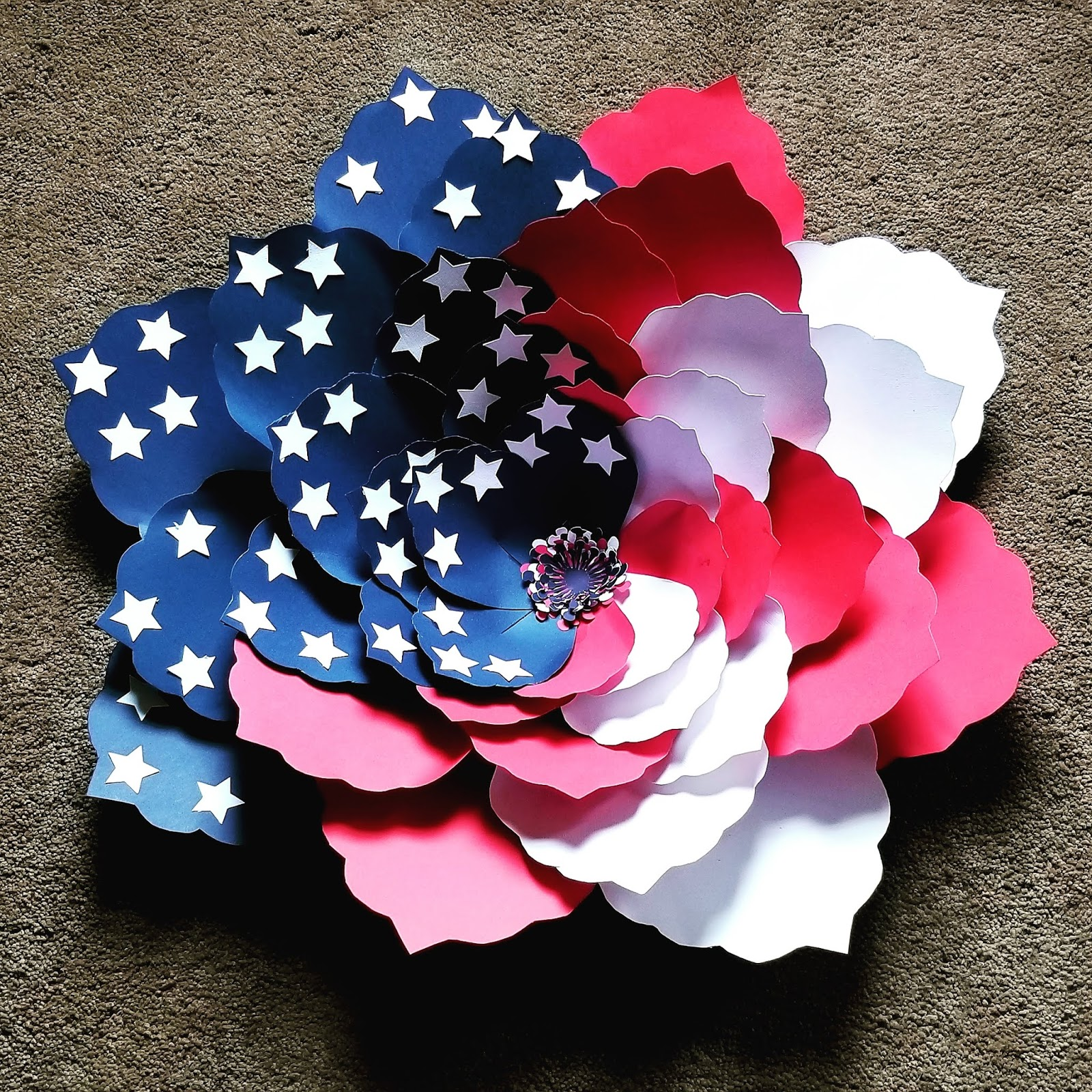 d429dcb91465 Patriotic american flag paper flower step with jpg 1600x1600 Us flag flower