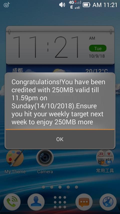 Airtel free 250 mb
