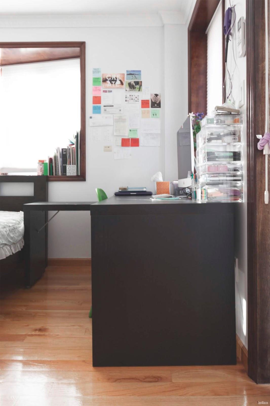 lavlilacs Ikea Malm Desk side