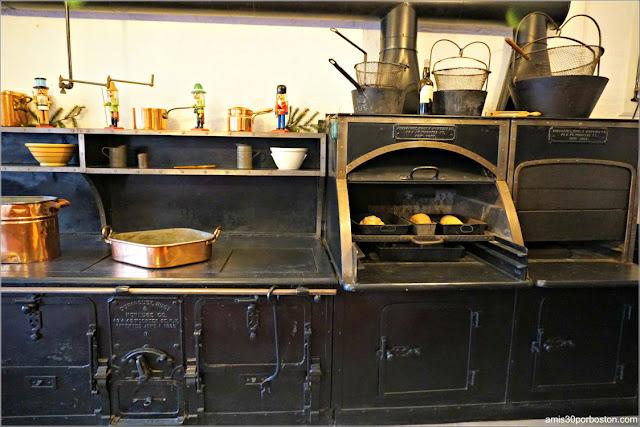 Hornos y Freidoras de la Cocina de Marble House, Newport