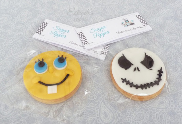 galletas con fondant Bob esponja vs Jack Skeleton
