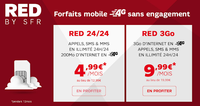 Vente privée de RED by SFR sur Showroomprivé