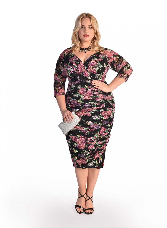 Dress Pensil yang Cocok Untuk Wanita Gemuk Motif Floral