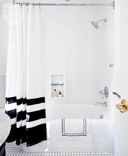 bagno con tenda doccia personalizzata immagine