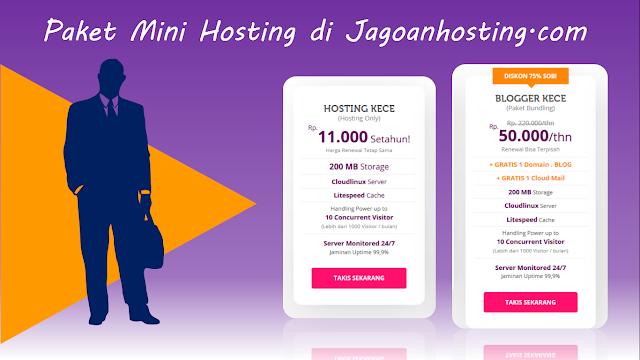 Paket Mini Hosting dari Jagoan Hosting