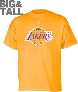 Los Angeles Lakers Big and Tall Tees
