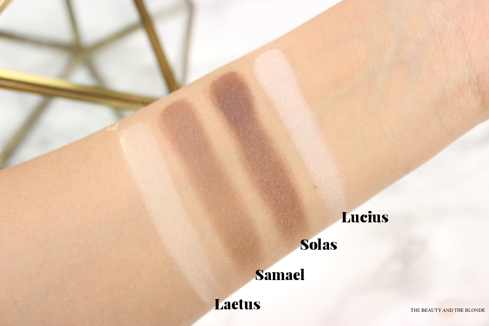 Kat von D Shade and Light Eye Palette Review Swatches Neutral Quad Laetus Samael Solas Luzius