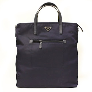 Prada Nylon and Leather Tote for Women