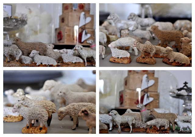 collection de moutons de crèche