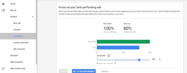 Cara Meningkatkan Bpk Atau Cpc Adsense Dengan Mengatur Ad Balance Adsense