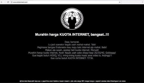 telkomsel dibajak hacker