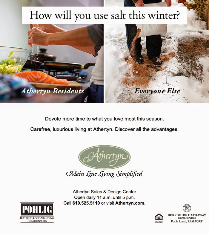 How will you use salt this winter?  Devote more time to what you live most this season.  Carefree, luxurious living at Athertyn.  Discover the advantages...
