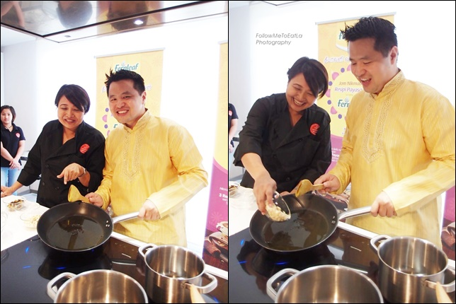 Cooking In Progress With Chef Chef Annette Isaac & Mr Martin Soong, Marketing Manager of Fernleaf at Fonterra Brands Malaysia