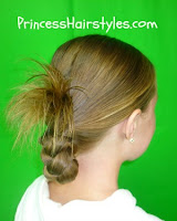 braid with spikes at the top
