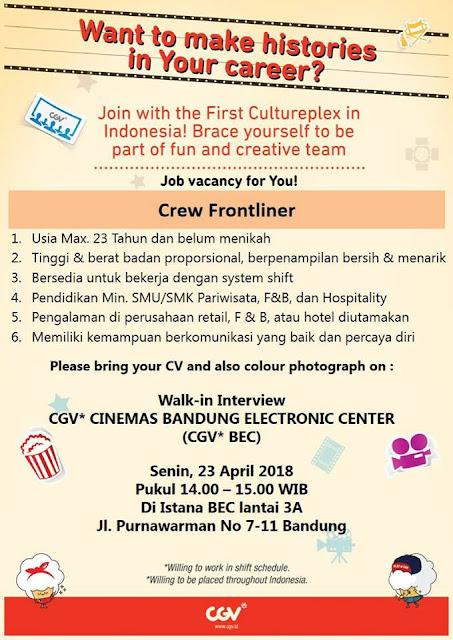 Lowongan Kerja CGV Cinemas Bandung