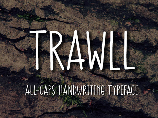 Download TRAWLL All Caps Handwriting Font Free