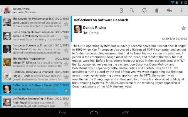 εφαρμογή ανοικτού κώδικα για email σε Android
