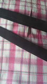 Dress straps before final sewing.