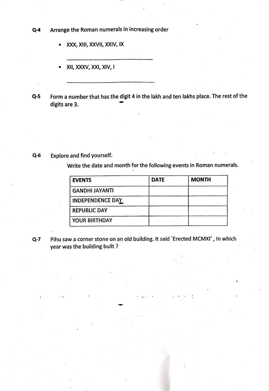 Grade 5 podar international school gandhinagar maths holiday maths holiday worksheet ibookread PDF