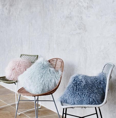 Oliver Bonas sheepskin cushions