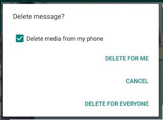 Bisa Delete for Everyone saat Menghapus Pesan Whatsapp