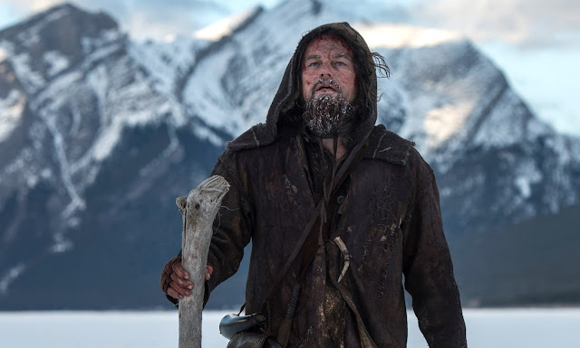 Leonardo DiCaprio as American explorer Hugh Glass in The Revenant