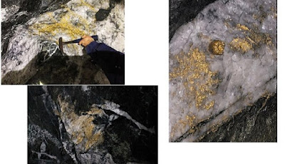 Bongkahan emas yang ditemukan di tambang