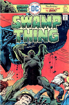 Swamp Thing v1 #19 1970s bronze age dc comic book cover art by Nestor Redondo