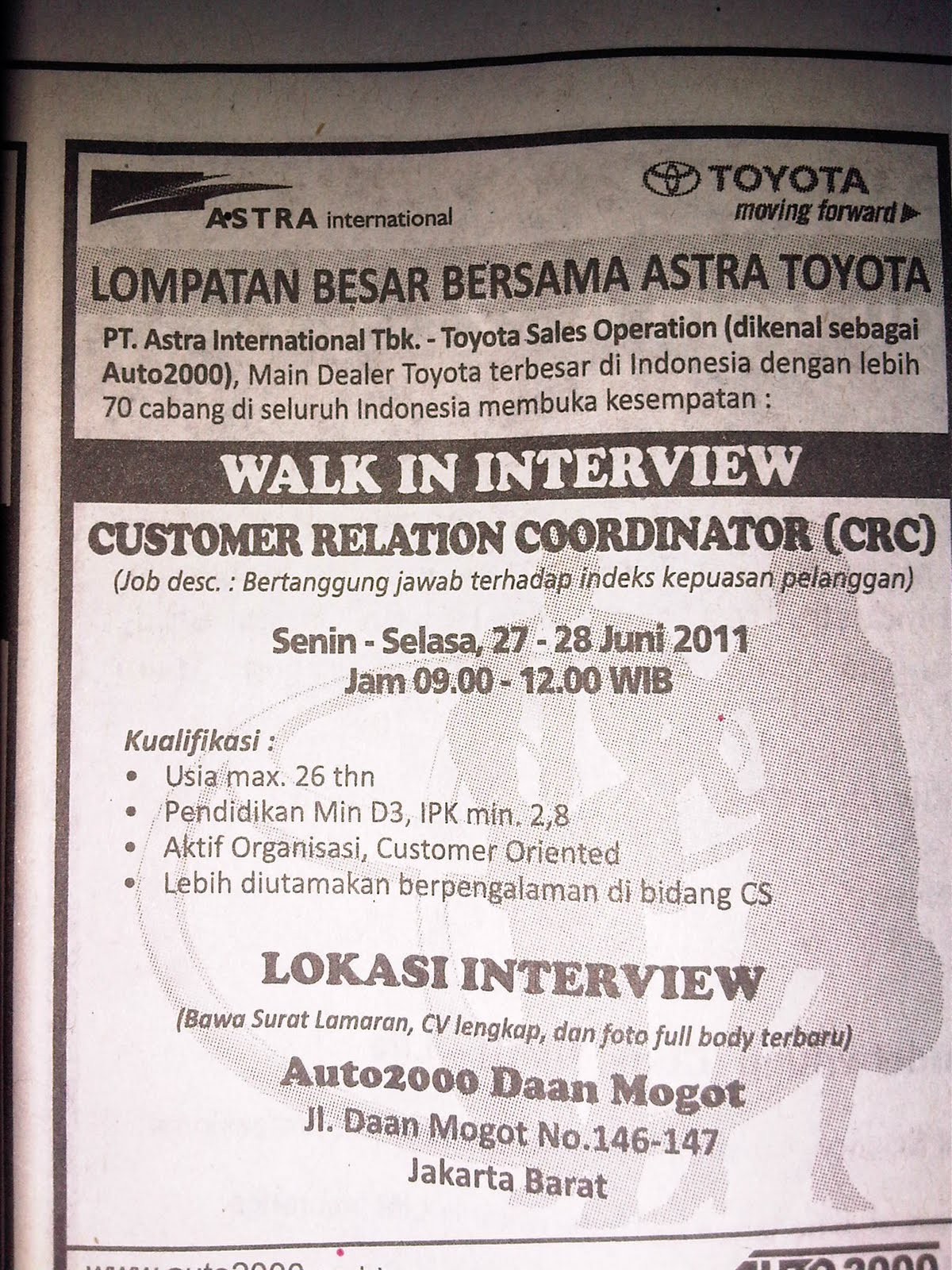 Loker 2013 Untuk Lulusan Smp Portal Info Lowongan Kerja Di Yogyakarta Terbaru 2016 Diposkan Oleh Nugroho Sulistyo Di 435 Am Lowongan Kerja Loker Terbaru