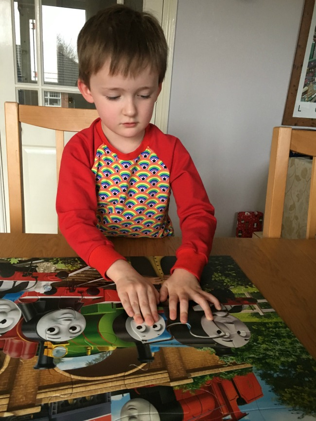Ravensburger-Thomas-and-Friends-Giant-Floor-puzzle-last-piece-going-in