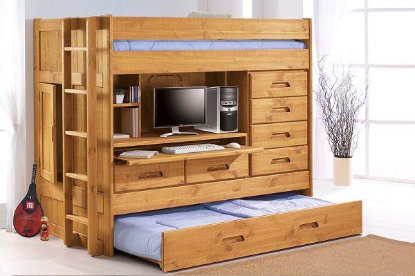 [Nội Thất Xếp Gọn] Bàn làm việc + giường ngủ + ngăn chứa đồ