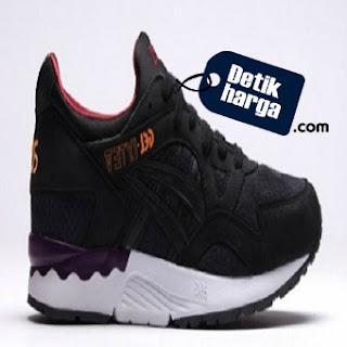 Asics Gel Lyte V Sunset Pack Schwarz H5D2L Black Burgundy Sneakers Shoes - Hitam