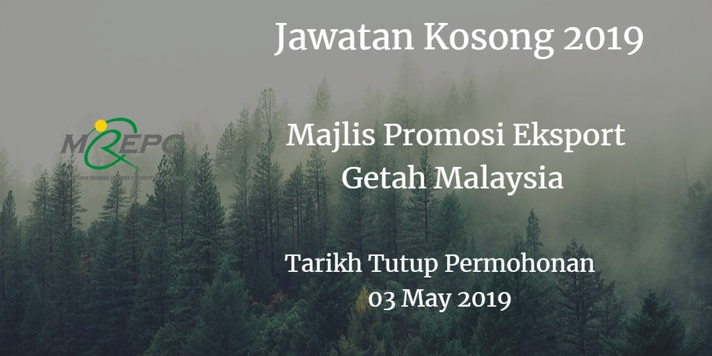 Jawatan Kosong MREPC 03 May 2019