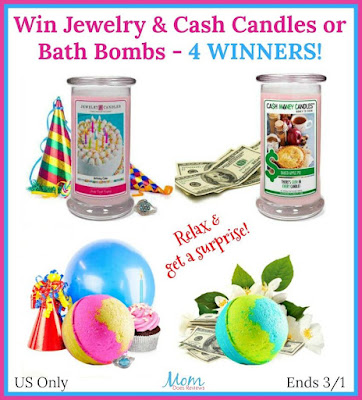 Enter the Jewelry Candles and Bath Bombs Giveaway. Ends 3/1