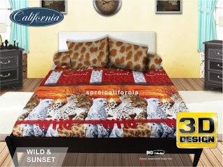 Sprei california 3D Wild Sunset