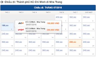 Giá vé máy bay TPHCM đi Nha Trang tháng 7