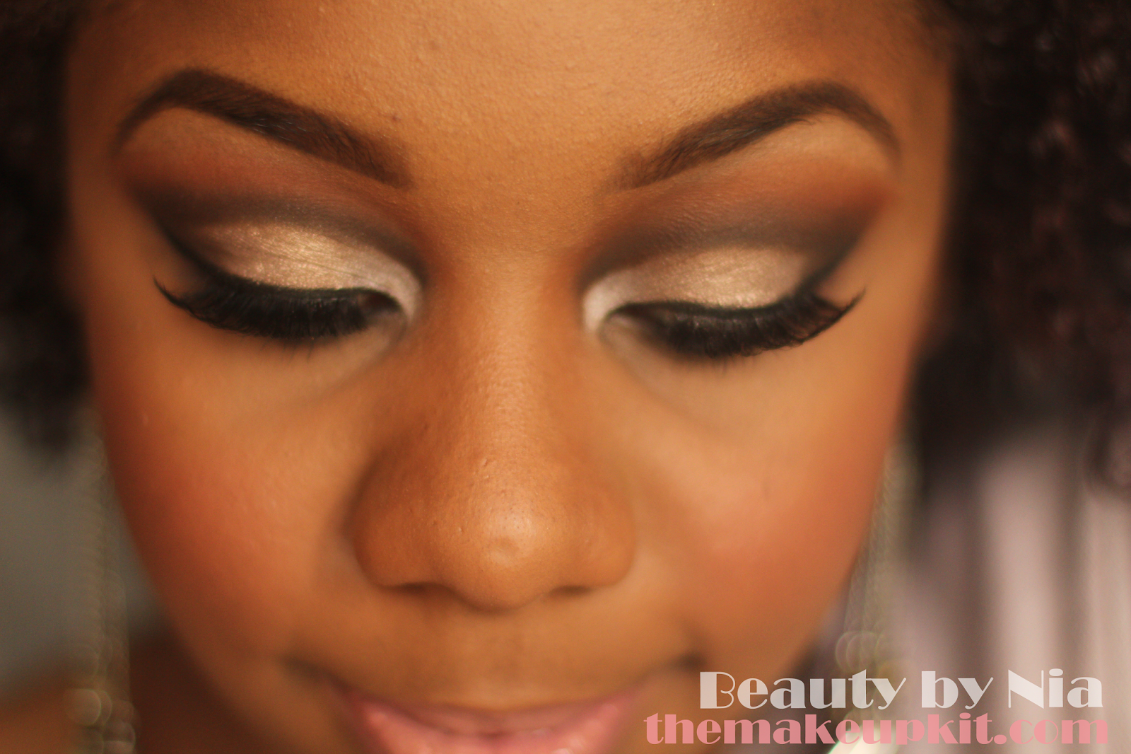 Soft Neutral Toned Cut Crease MakeUp Look 2