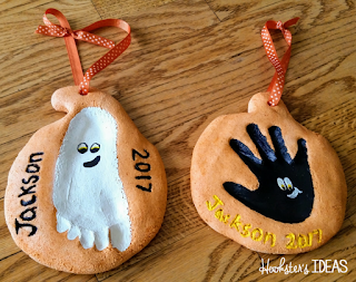 Hookster's Ideas: Tinkering Toddlers Salt Dough Pumpkin Keepsake