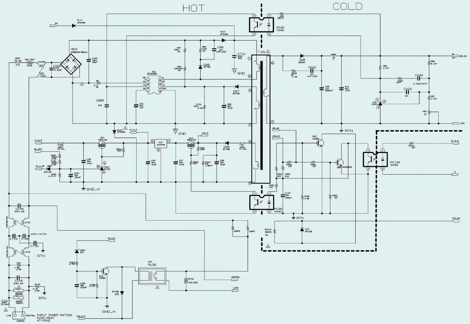 bn 96 samsung power supply schematic circuit diagram electro help samsung lcd tv power [ 1600 x 1104 Pixel ]