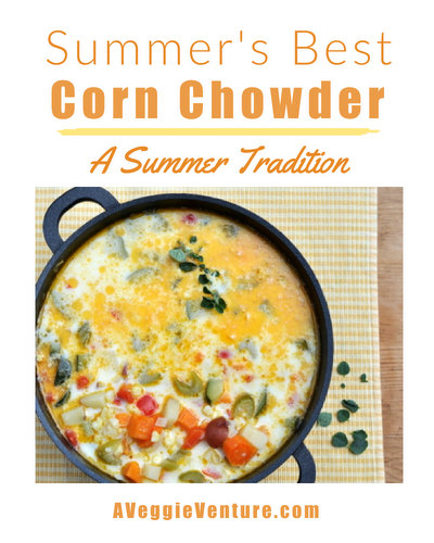 Summer's Best Corn Chowder, a classic summer soup ♥ AVeggieVenture.com, packed with our favorite fresh and seasonal summer vegetables. Great for Meal Prep.