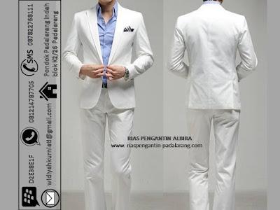 Sewa jas pengantin pria warna putih