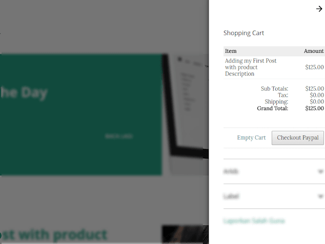 adding shopping cart sidebar blogger themes