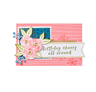Aussie Stampers Perennial Birthday Card With Lots Of Layers