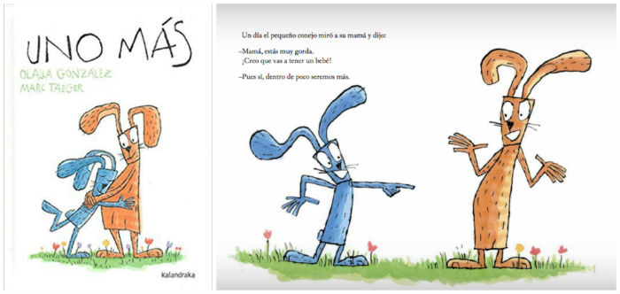 mejores cuentos infantiles 3 a 5 años, libros recomendados uno mas kalandraka embarazo