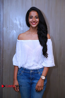 Actress Apoorva Srinivasan Pictures in Jeans at Tollywood Thunder Franchise Launch  0006.JPG