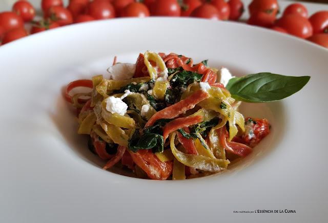 Tallarines, Tallarinas, Pasta facil, pasta i verdura, l'essencia de la cuina, blog de cuina, blog de cuina de la sonia