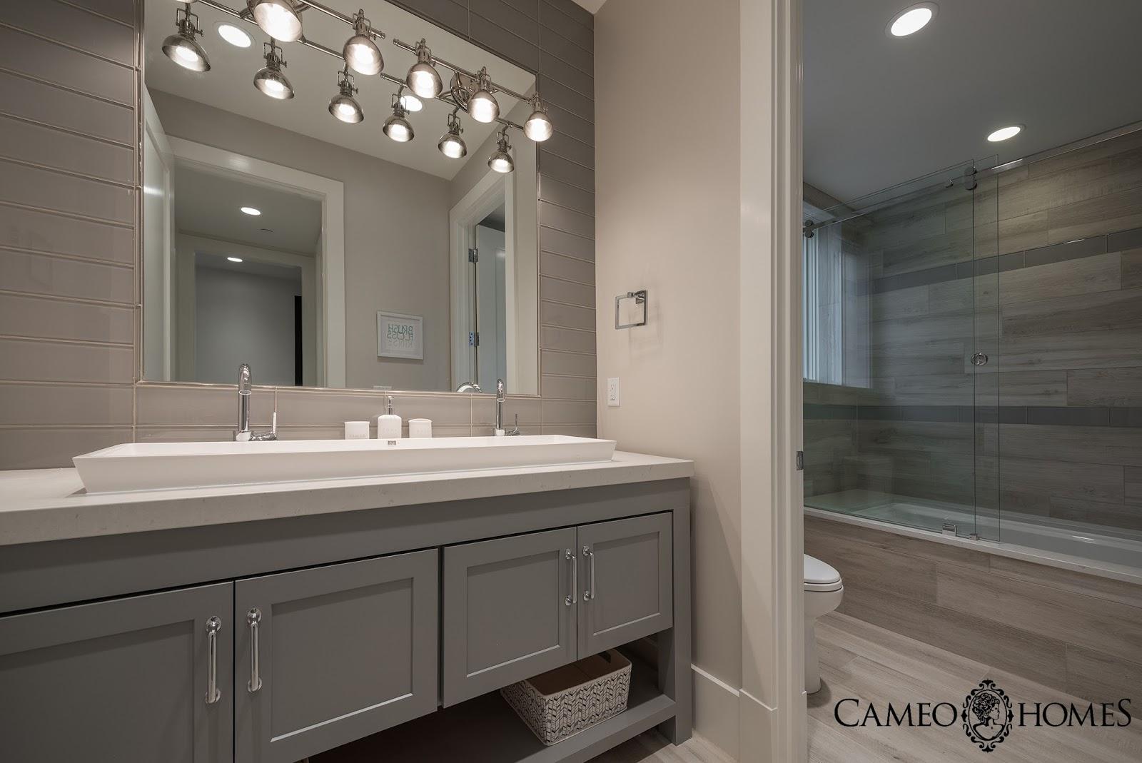 Sita Montgomery Interiors The New Fork Project Bunk Room And - Large tub and shower combo