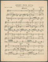"A page of sheet music for ""Sextet from Lucia."""
