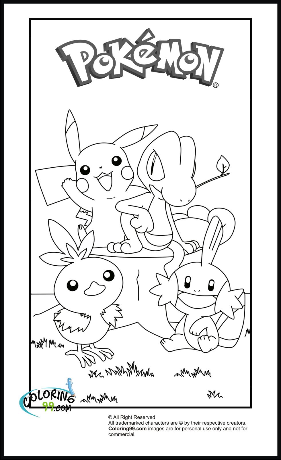 pikachu coloring pages  team colors